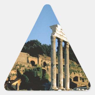 Roma, Foro Romano, 1956 Pegatina Triangular