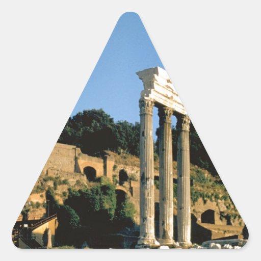 Roma, Foro Romano, 1956 Pegatina Trianguloada
