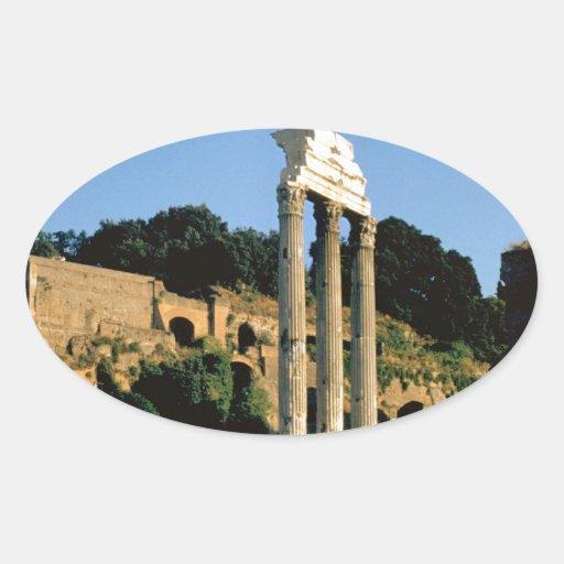 Roma, Foro Romano, 1956 Pegatinas De Oval