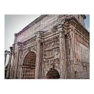 Roma Forum Arch of Septimius Severus Postcard