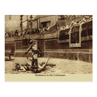 Roma, gladiadores en el Colosseum Tarjeta Postal