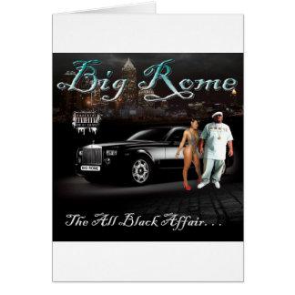 Roma grande - todo el asunto negro - cubierta del  tarjeta de felicitación