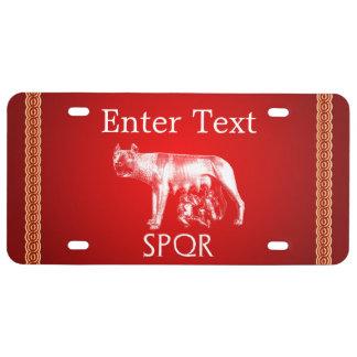 Roma imperial placa de matrícula