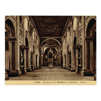 Roma,Inside St John in Lateran Postcard