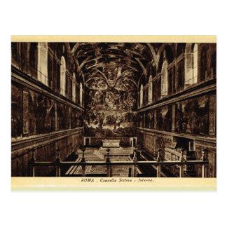 Roma Inside the Sistine chapel Postcard
