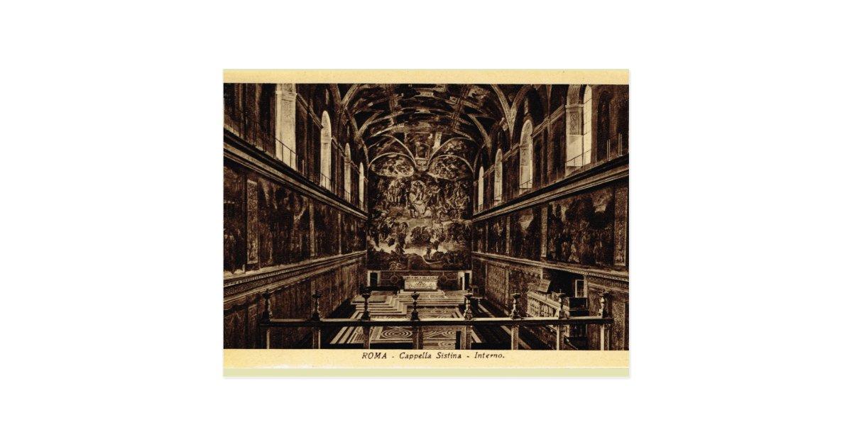 Roma Inside The Sistine Chapel Postcard Zazzle
