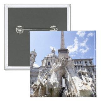 Roma, Italia 7 Pin Cuadrada 5 Cm