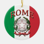 Roma Italia Adorno Redondo De Cerámica