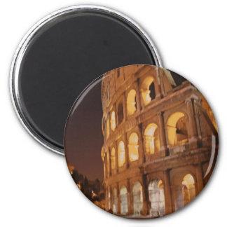 Roma Italia Colosseum Imán Redondo 5 Cm