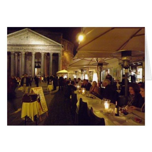 Roma, Italia en la noche Tarjeta De Felicitación