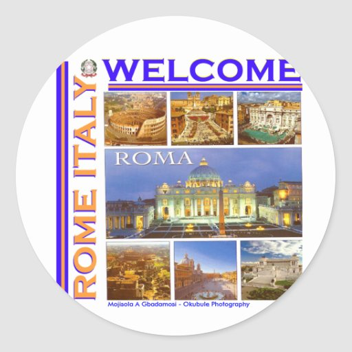 Roma Italia hoy Pegatina Redonda