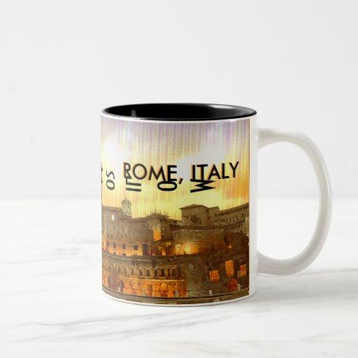 ROMA, ITALIA (Mojisola un Gbadamosi - un Okubule) Tazas De Café