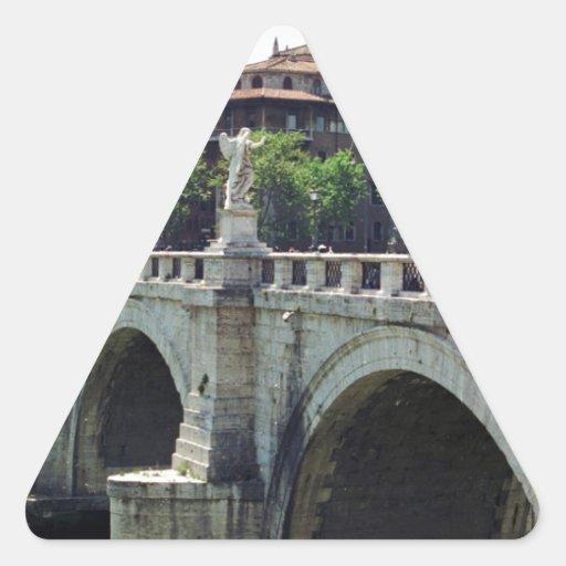 Roma, Italia Pegatina Triangular