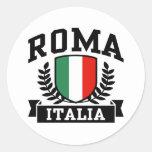 Roma Italia Pegatinas Redondas