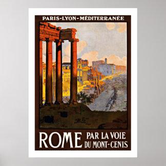 Roma Italia - posters del viaje del vintage