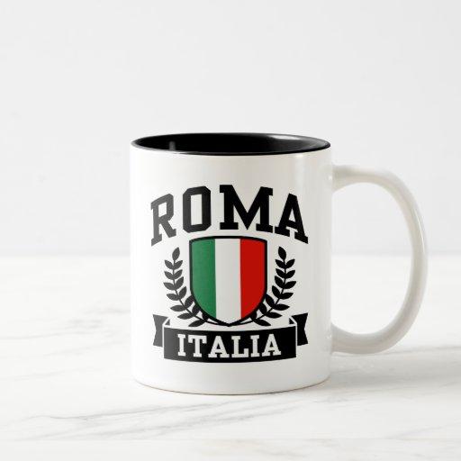 Roma Italia Taza De Dos Tonos