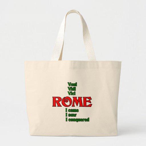 Roma Italia Veni Vidi Vici Bolsa Tela Grande