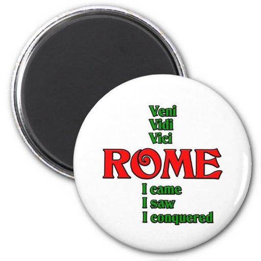Roma Italia Veni Vidi Vici Imanes Para Frigoríficos