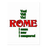 Roma Italia Veni Vidi Vici Postal