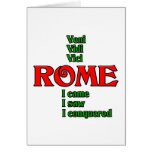 Roma Italia Veni Vidi Vici Tarjeton