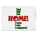 Roma Italia Veni Vidi Vici Tarjetón