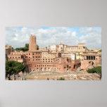Roma, Italia - vista del mercado del Trajan Impresiones