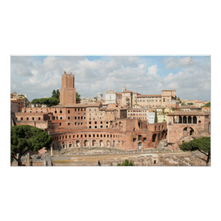 Roma, Italia - vista del mercado del Trajan Póster