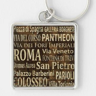 Roma, Italy Vintage Art Keychain
