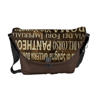 Roma Italy Vintage Art Messenger Bag