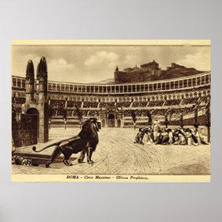 Roma, juegos en el circo Maximus Póster
