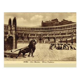 Roma, juegos en el circo Maximus Tarjeta Postal