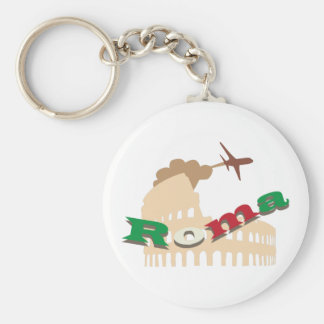 Roma Basic Round Button Keychain