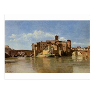 Roma, la basílica de Constantina de Camilo Corot Tarjeta Postal
