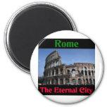 Roma la ciudad eterna. iman para frigorífico