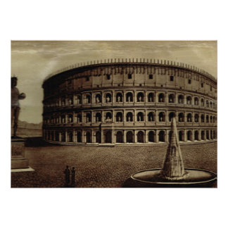 Roma, la impresión del artista de Colosseum Póster