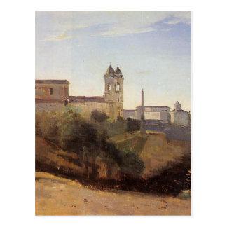 Roma, la opinión de Monti del dei de Trinita de Tarjetas Postales