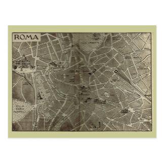 Roma, mapa que fecha al final del siglo XIX Postal