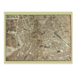 Roma, mapa que fecha al final del siglo XIX Postales