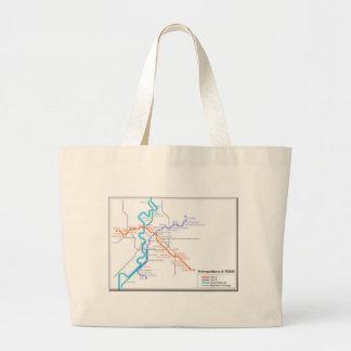 Roma Metro Map Large Tote Bag