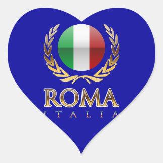 Roma Pegatina En Forma De Corazón