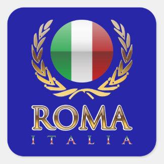 Roma Calcomanías Cuadradass Personalizadas