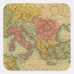 Roma Pegatina Cuadrada