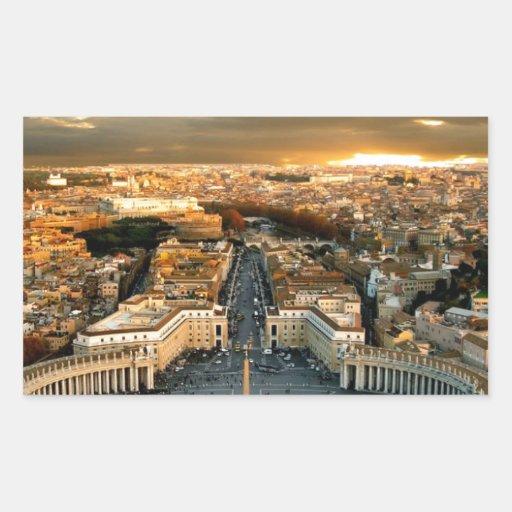 Roma Pegatina Rectangular