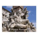 Roma, plaza Navona Postal
