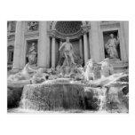 Roma, postal de la fuente del Trevi