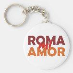 Roma Roma miserable mi amor rome love amor my Llavero Personalizado