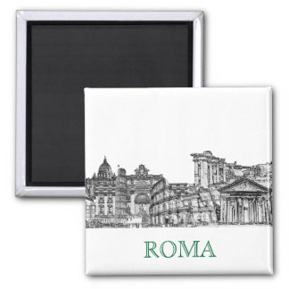 Roma, Rome... travel souvenir gifts 2 Inch Square Magnet