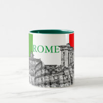 Roma, Rome... travel souvenir gifts Two-Tone Coffee Mug