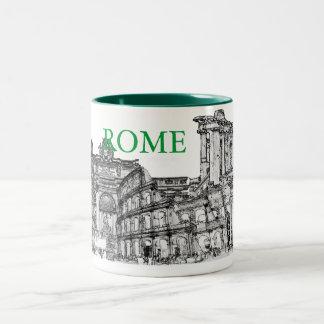 Roma, Rome... travel souvenir gifts Two-Tone Coffee Mug