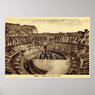 Roma, ruinas del Colosseum Póster